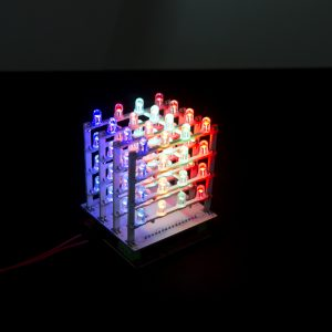 RGB LED Cube Kit 4x4x4 for Arduino